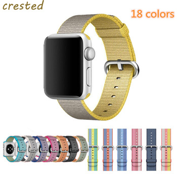 TEPELI Watch band Apple Watch band kayış 42mm/38mm spor Dokuma Naylon Kumaş watchband bilek bilezik için iwatch 1/2/3