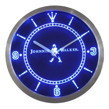 Nc0102 Johnnie Walker Viski Wine Bar Neon Burcu LED Duvar Saati